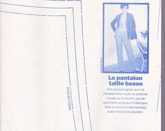 pants pattern size m low ars 1997