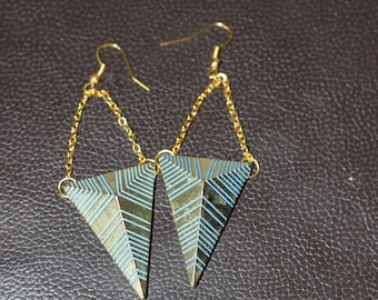 Pair of earrings modern and chic Ethnik