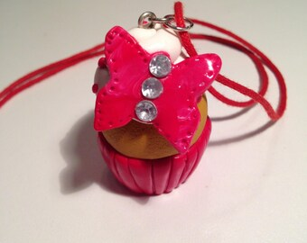 """Necklace fimo """"butterfly cupcake"""""""