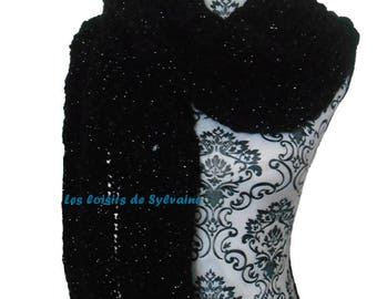 Silver sequined scarf: to order