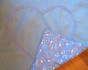 "Blanket or throw ""blue sheep"" for her baby."