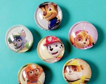 Paw patrol! Set of 6 fridge magnets