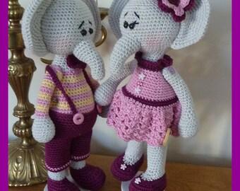 Elephant, crochet, Amigurumi plush