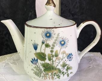 Rustic stoneware teapot made in Japan