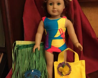 "Luau Beach Party 18""Doll Set"