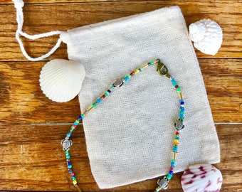Colorful turtle anklet