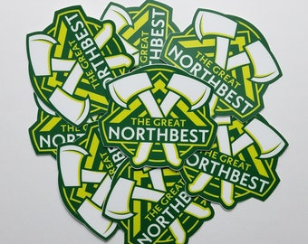 The Great NorthBest Timber Theme Sticker