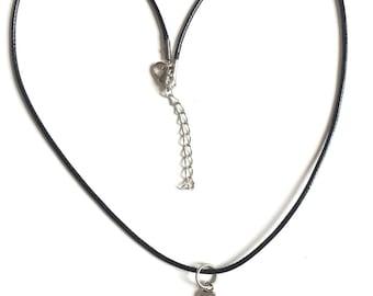 Necklace 50 shades of Grey silver black tie cord