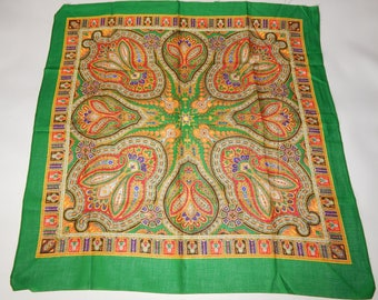 vintage cotton shawl from the Soviet Union  4916