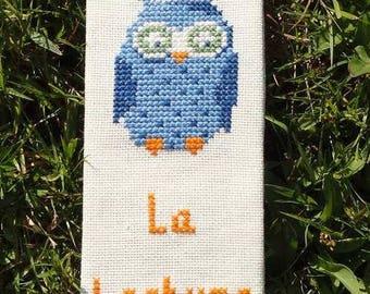 """OWL"" 1 cross stitch bookmark"