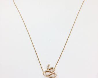 Gold Snake 18k, Rubi and Diamonds