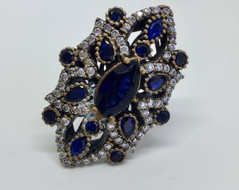 Blue Sterling Silver Turkish Ring