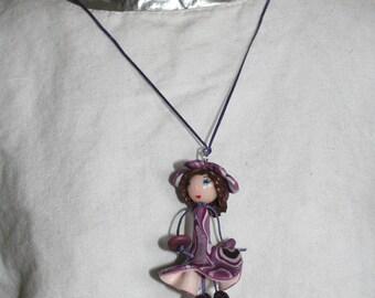 Purple girl - dress flower & Flower hat