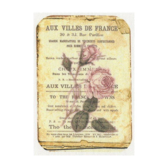"""Applied fusible - Collection """"Old Rose"""" AT406-4"""