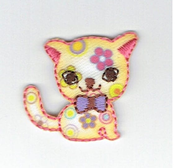 "Patch fusible trend pattern ""cat"""