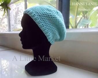 """Seaside"" hat around 54 cm Crochet of acrylic blue/Glacier"