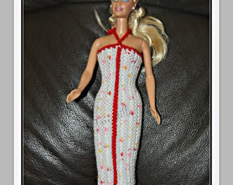 Striped for Barbie doll dress