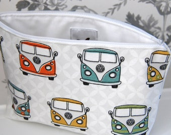 Large VW Campervan Cosmetic Bags, Large Cosmetic Bags, Large Makeup Bags, Campervan Cosmetic Bags, Campervan Makeup Bags, Gifts for Her
