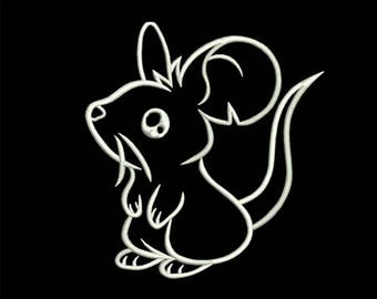 Cute Mouse Embroidery design - downloadable