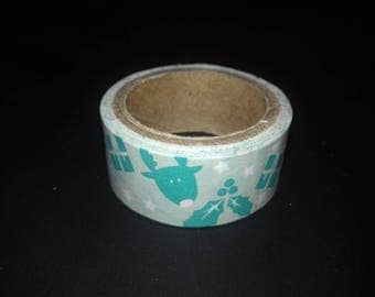 grey green masking reindeer Washi tape roll
