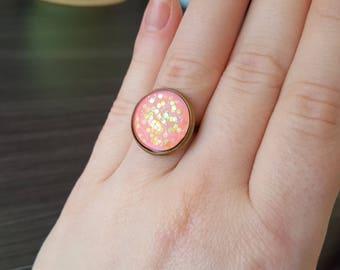 Rose Cabochon Adjustable ring