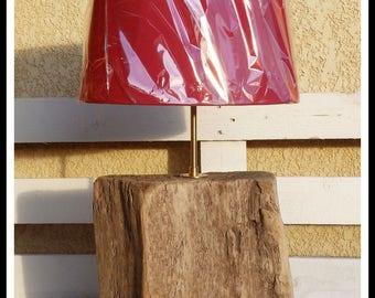 Wooden lamp driftwood, marine decoration, nautical, beach decor Driftwood