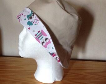 Bob girl cream denim Hat
