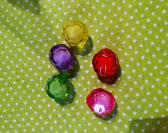 faceted acrylic transparent 18 mm 20 beads
