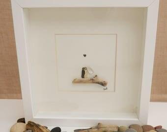 Pebble/Stone Art - 'Newly Wed'