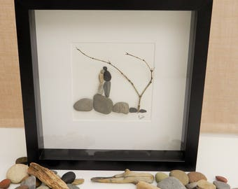Pebble/Stone Art - 'HoneyMoon'
