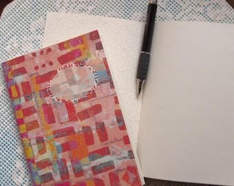 NOTEBOOK design, pink, orange. Original creation Marie Bazin.