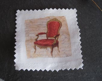 Transfer, image has sewing Chair, antique, vintage, retro