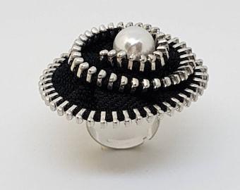 """Zip ring """"Black Pearl"""""""