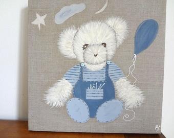 Tableau Teddy bear for baby boy