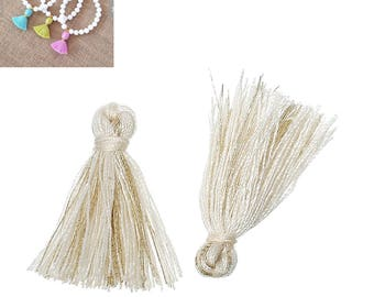 20 charms 25mm - cream-SC64860 Polyester fringe tassels-