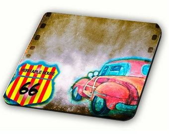 Mousepad catalan style in the colors of blood and gold