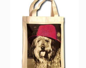 Small canvas bag personalized with your photo