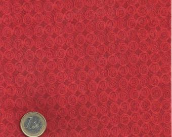 Fabric coupon ideal patchwork pink red / orange 45 x 55 cm Fat Quarter
