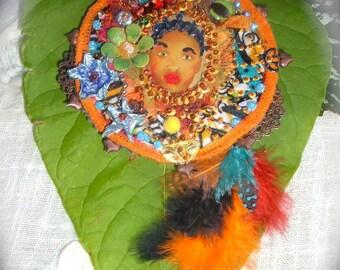 Princess Tal' African unique designer pendant.