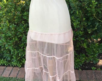 Vintage 1950s light pink petticoat