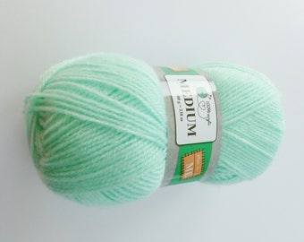 1 ball of yarn color Mint green mint acrylic 100gr either 238 m