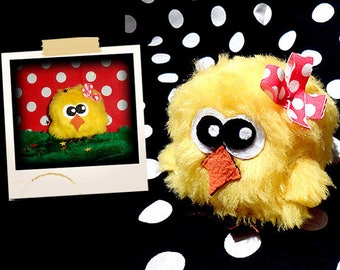 Plush in the shape of little yellow chick APLUCHES