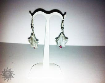 set glass leaf Maple and Ruby