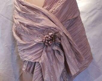 Pink beige shawl
