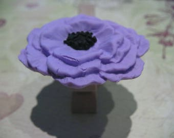 Poppy ring lilac and black