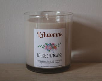 Candle of atmosphere to ► soy wax ' Automne◄
