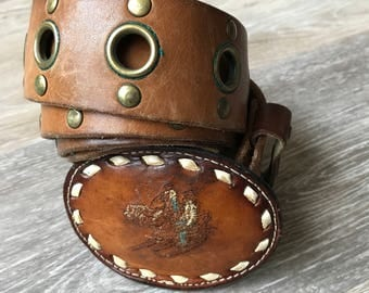 Vintage Western Belt With Buckle
