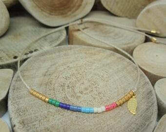 "Bracelet ""Miyuki Rainbow"" by Nina"