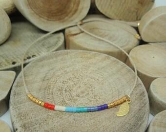 """Bracelet """"Miyuki Rainbow"""" Agathe"""