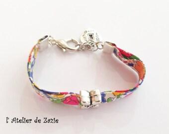 Bracelet obliquely Liberty Delilah Cavendish blue orange